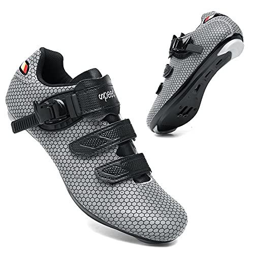 KUXUAN Zapatillas de Ciclismo para Hombre Zapatillas de Bicicleta de Carretera para...