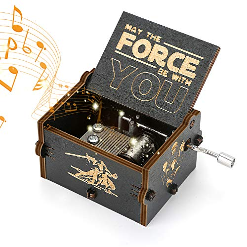 Yideng Madera de la manivela Caja de música, Tema de Star Wars...