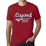 One in the City Hombre Camiseta Vintage T-Shirt 1957 Cumpleaños de 64 años Tango Rojo Tango Rojo M