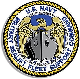 American Vinyl US Navy Military Sealift Fleet Support Command Seal Sticker (Naval sea Lift)