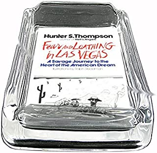 Hunter S Thompson Fear And Loathing Glass Square Ashtray D-076