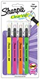 Sharpie Clearview - Juego de rotuladores fluorescentes (4 unidades, tinta de varios colores), color Assorted Pack of 4