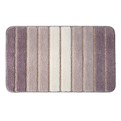 APAN Household Doormat Living Room Bedroom Fiber Carpet Toilet Antiskid Dirt Resistant Mat Super Absorbent Foot Pad((5 colors) (Brown,15.74 in×23.62 in)