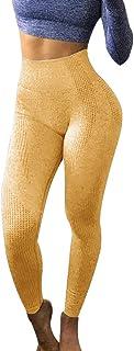 FANSHONN Women's High Waist Workout Yoga Pants Seamless Tummy Control Leggings Butt Lift Active Tights