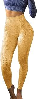 PAQOZ Women's Yoga Pants, Ladies Hip Seamless Jacquard Point High Waist Speed Dry Pants Fitness Leggings