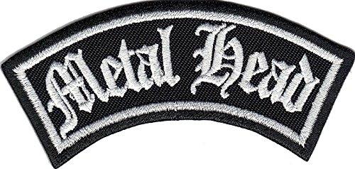 METAL HEAD Biker Rider Rankpatch Heavy DEATH METAL Rocker Aufnäher Patch