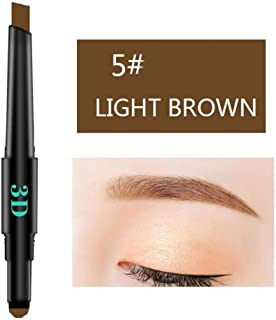 Waterproof Drawing Eyebrow Pencil for Girls, Iuhan 3 IN 1 Waterproof Multifunctional Automatic Eyebrow Pigment Makeup Kit Beauty (Light Brown)