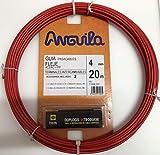 Anguila - Pasacables acero nylon 4mm 20m rojo