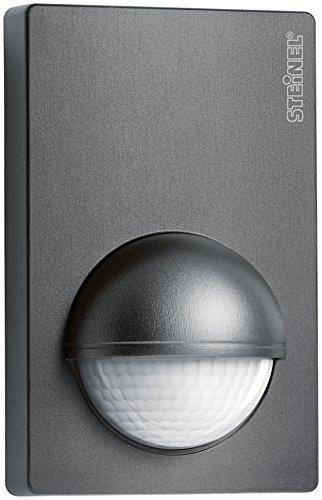 Steinel Bewegunsmelder IS 180-2 anthrazit, 180° Infrarot Bewegungssensor, Dämmerungssensor für Innen- und Außenbereich