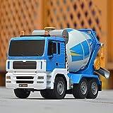 WANIYA1 Gran Control Remoto Ingeniería Vehículo Recargable RC Mezclador Camión Cemento Mezclador de Concreto Simulación de Coche Simulación RC Coche para Niños Boys RC Juguete Regalo