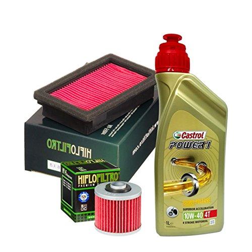 Kit tagliando Castrol Power 1 10W40 filtro olio aria Yamaha MT-03 / XT 660 R/X
