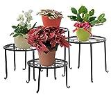 Set 4 in 1 di supporti per fiori, sgabelli per fiori in metallo, decorazione per giardini/terrazze