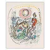 Marc Chagall Pared Arte Surrealismo Lienzo Arte óLeo Pintura Abstracto Obra De Arte Poster Colorido Figura Cuadro Inicio Pasillo Pared Decoracion 40x50cm No Marco