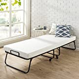 Zinus Roll Away Folding Guest Bed Frame with 4 Inch Comfort Foam Mattress, Narrow Twin