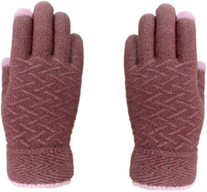 Healifty Yarn Gloves Knit Warm Gloves (Camel)