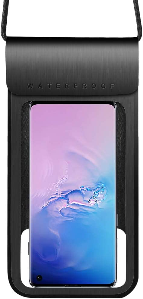 Waterproof Phone Case Universal Dry Bag Pouch Compatible for Samsung Galaxy S21 S20 / A11 A31 A41 A51 A71 F41 M01 M11 M21 M31 / Nokia 5.4 3.4 / OnePlus Nord / 8T / BLU G9 Pro (Black)