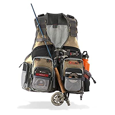 Anglatech Fly Fishing Vest Pack for Trout Fishing Gear and Equipment, Adjustable Size for Men and Women from Anglatech