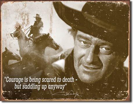 ART/ARTWORK - Licensed Collectables - John Wayne [35421429] - 'John Wayne - Courage' - Artwork/Sign Is Paint On Metal [TSFD]