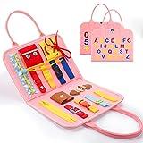 BOXYUEIN Juguetes Bebes 1-4 Años, Tablero Montessori Juguetes Niños 1 2 3 4 Años Juguete Niña 1-4 Años Regalos para Niñas Busy Board Regalos Cumpleaños Niños Juego al Aire Libre