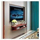 Mobiliario de dormitorio Caja Unidad de TV marco decorativo de la pared del soporte Entretenimiento Gabinete de administración de almacenamiento de DVD Reproductor de cable flotante estante de montaje