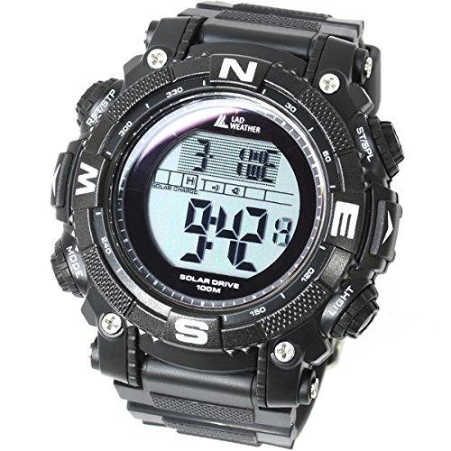 LAD WEATHER Militar Reloj Potente Batería Solar Cronómetro Marca de America y Japón Deportes al Aire Libre