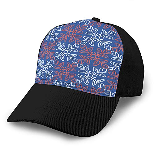 Sombreros de béisbol de Hip Hop de Color de Contraste Ajustable Estilo de los años 50 edredón de Flores Retro Gorra de béisbol de Mezclilla Personalizada sin Costuras