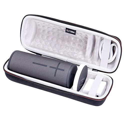 LTGEM EVA Estuche rígido Caso para Ultimate Ears Boom 3 Altavoz Bluetooth inalámbrico portátil a Prueba de Agua - Compatible con Cable USB, Cargador y Base de Carga