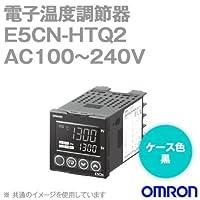 オムロン(OMRON) E5CN-HTQ2 電子温度調節器 プログラムタイプ 端子台タイプ AC100~240V ブラック (電圧出力(SSR駆動用)) NN