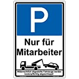 """Schild""""Parken nur für..."""