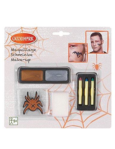 Maquillage à paillettes et tatoo Halloween