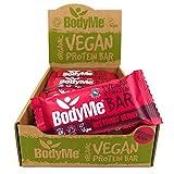BodyMe Barritas Proteinas Veganas Organica | Cruda Remolacha Baya | 12 x 60g Barra Proteina Vegana | Sin Gluten | 16g Proteína Completa | 3 Proteina Vegetal Aminoacidos Esenciales | Vegan Protein Bar