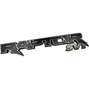Zcardon 1x 15inch Raptor SVT Tailgate Emblem Badge 09-14 Replacement for F150 Chrome Grey