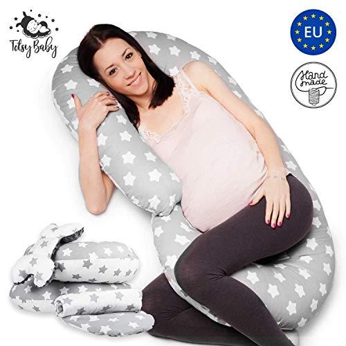 Zwangerschapskussen lang zijslaper kussen XXL - Baby Stijlkussen zwangerschapsslaaprol zijslaapkussen set 2 Pillow + onderlegger