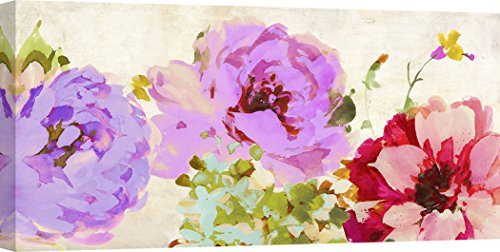 Art Print Cafe – Decoration Murale, Tableau Fleurs de Kelly Parr, Beautiful Gems – Impression sur Toile 70x35 cm