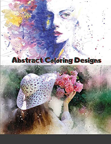 Abstract Coloring Designs: Adult Coloring Book / Stress Relieving Patterns / Relaxing Coloring Pages / Premium Design