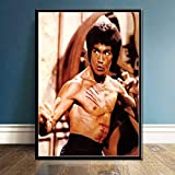 JYWDZSH Leinwanddruck Bruce Lee Poster Und Drucke Leinwand