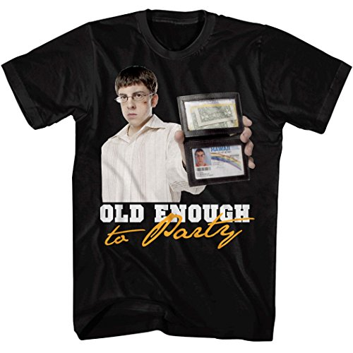 Superbad Mclovin Old Enough To Party T-Shirt-X-Large