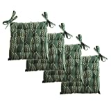 Unity Chair Pads - Cotton Canvas - Value 4 Pack - Fits 15' Chair - Leaf Pattern - Classic Design, by (Green)