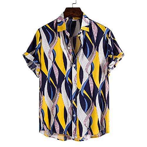 SSBZYES Camisas para Hombres De Manga Corta Camisas De Verano para Hombres Camisas Estampadas para Hombres Camisetas De Verano para Hombres Camisetas De Algodón Camisas De Manga Corta con Estampado