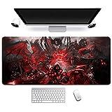 World of Warcraft Tappetino Mouse Gaming 900x 400mm XXL per Mouse e PC, 3mm Mouse Pad Antiscivolo Fondo in Gomma con Bordi Cuciti, A