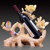 Zpong Gelbes Weinregal 35 * 17 * 31 cm, Harz Weinflasche Regal Wein Display Regal Wein Set Hochzeitsgeschenk