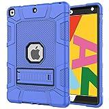 Azzsy iPad 7th Generation Case,iPad 10.2 2019 Case, Slim Heavy Duty Shockproof Rugged High Impact Protective Case for iPad 7th Generation 10.2 inch 2019 Release (Blue)