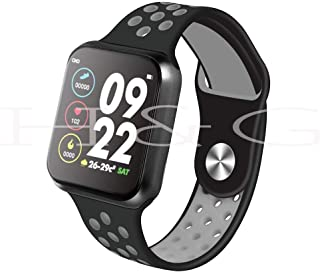 OLED Color F8 Fit Pro Fitness Band/Smart Watch/Activity Tracker with Full Touch Display Waterproof,Heart Rate Sensor, Notification Alerts Features (Grey)