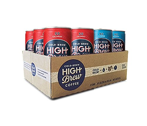 High Brew Cold Brew Coffee Double Espresso/Mexican Vanilla Variety Pack 8 Ounce Can (12 Count)