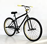 2021 R4 Complete Aluminum 29 Inch BMX Cruiser Bike Bicycle, Matte Black & Gold