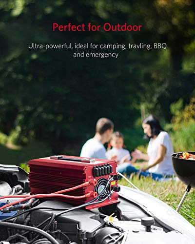 BESTEK 2000W Power Inverter 3 AC Outlets DC 12V to 110V AC Car Power Converter for Camping Outdoor Power Supply ETL Listed