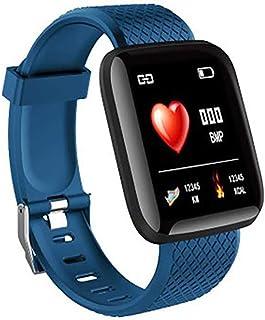 Rastreador de Ejercicios, Pantalla a Color Reloj Pulsómetro pressione sanguigna Recordatorio sedentario Llamar SMS SNS Recordar Fitness Tracker Compatible con Android iOS
