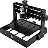VEVOR CNC 3020 300x200x40mm Working Area CNC Machine 10000r/min Mini Laser Engraver with Offline Controller Desktop 3 Axis Laser Engraving Machine for or DIY Carving Milling Plastic Acrylic PVC Wood