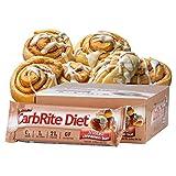 CarbRite Diet - 1g net Carbs - Gluten Free - Sugar Free - Protein Bar - Frosted Cinnamon Bun 2oz bar, 12 count