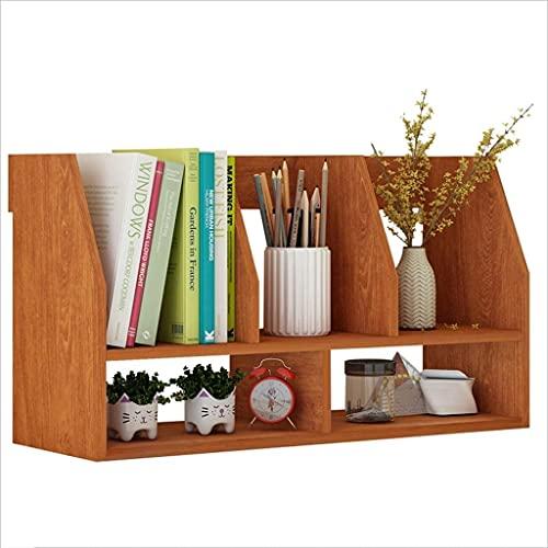 Estante organizador de estantería de libros simple estantería, estantes de mesa, uso de estudiantes mini espacio simple estantería de escritorio pequeña estantería